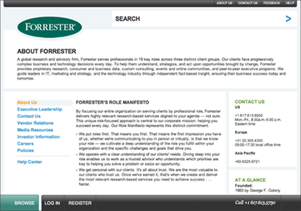 forrester research white papers Resource library access the latest white papers, research webcasts, case studies and more covering a wide range of topics like mobile, cloud and data analyitcs.