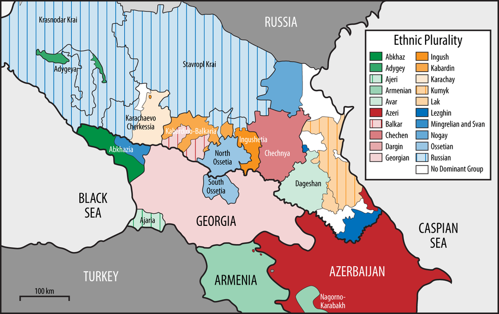 The Caucasus—an ethnic and linguistic melting pot