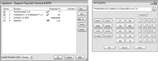 The Equations interface