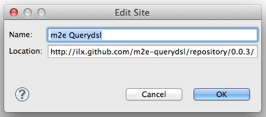 Adding the m2e-querydsl update site