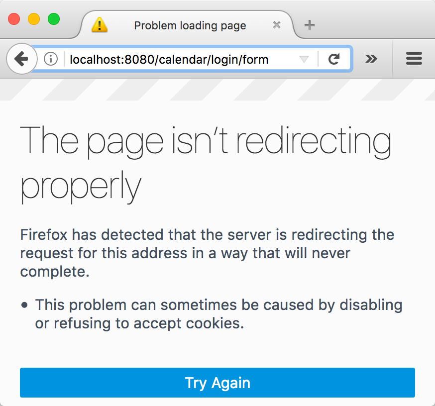 The page isn't redirecting properly - Spring Security - Third