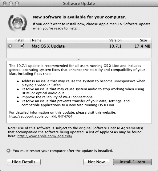 Software Update - Switching to the Mac: The Missing Manual, Lion