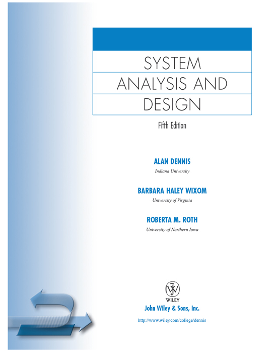 Title Page System Analysis And Design Fifth Edition Book