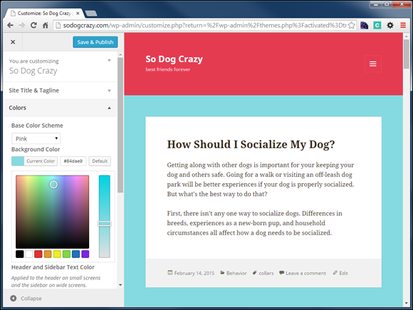 chapter 9 tweaking your theme teach yourself visually wordpress