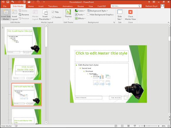 chapter 11 using masters teach yourself visually powerpoint 2016