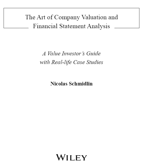 Title Page  The Art Of Company Valuation And Financial Statement