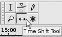 Selecting the Time Shift tool