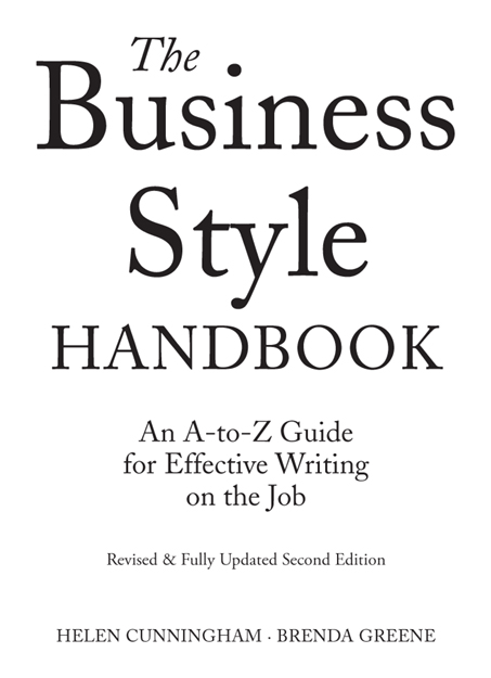 the business style handbook pdf