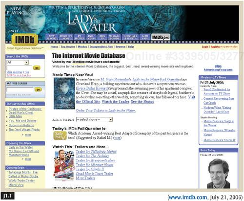 IMDb's Web site provides an effective search feature—one that is both simple and powerful.