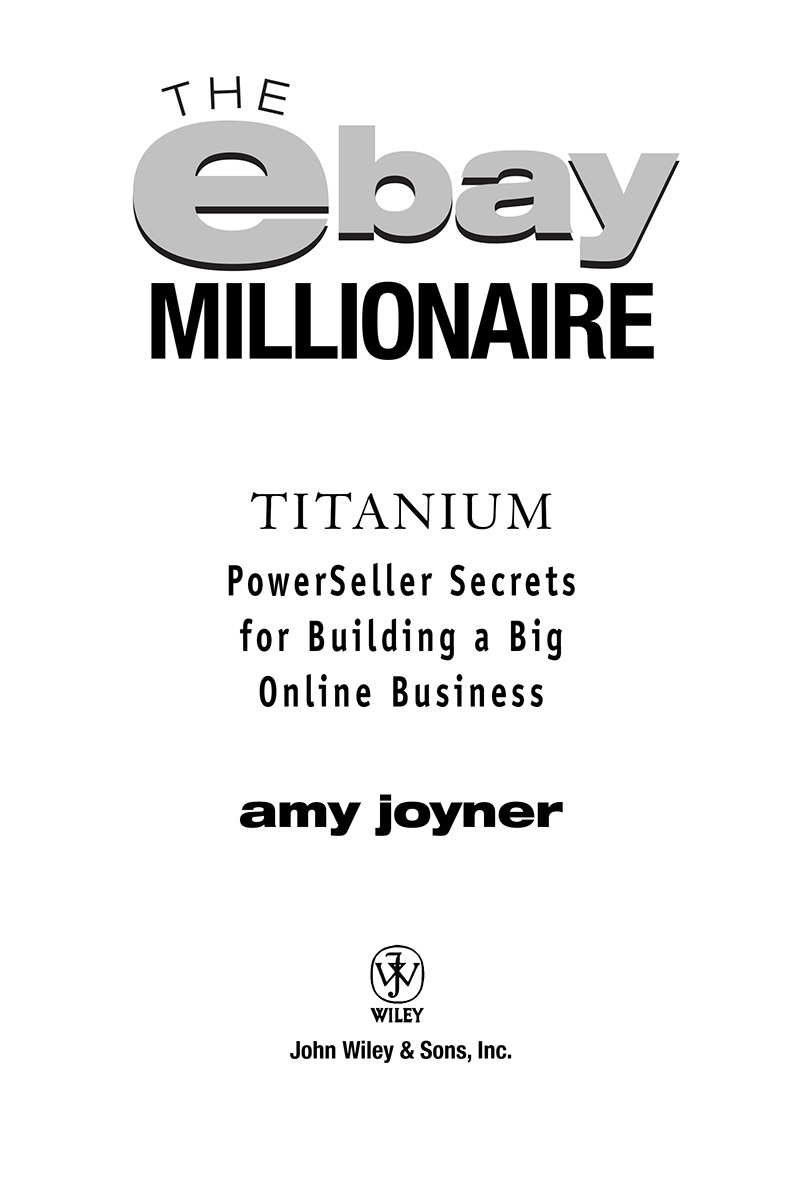 Cover Page The Ebay Millionaire Titanium Powerseller Secrets For Building A Big Online Business Book