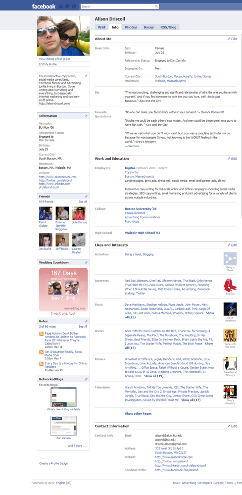 You can view a variety of information on an active Facebook user's Profile.