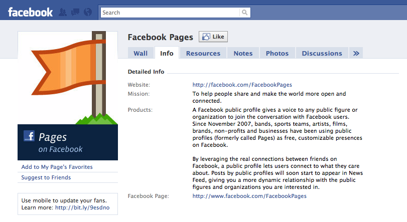 Facebook's official Page about Facebook Pages provides helpful hints and tips for Page administrators.