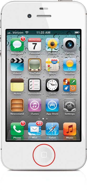 Getting back to the home screen the iphone book covers for Wallpaper for iphone 3gs home screen