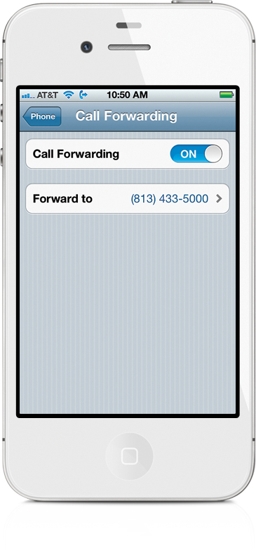 at&t phone how to call forward
