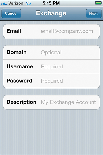 Add a Corporate Microsoft Exchange Email Account - The iPhone Book
