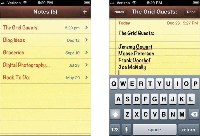 Making Quick Notes - The iPhone Book: Covers iPhone 4S, iPhone 4