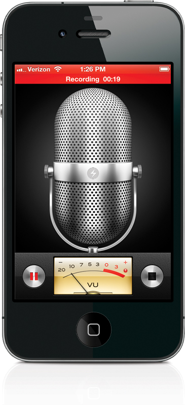 Using the Built-In Voice Memos App - The iPhone Book: Covers