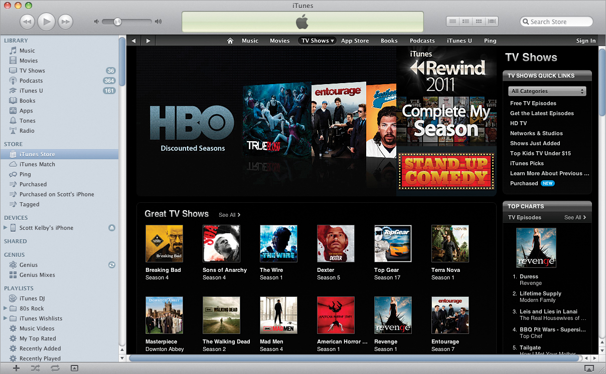 Buying or Renting Videos in iTunes - The iPhone Book: Covers iPhone
