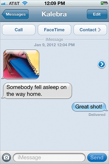 Viewing and Saving Photos/Video Sent in a Text Message - The iPhone