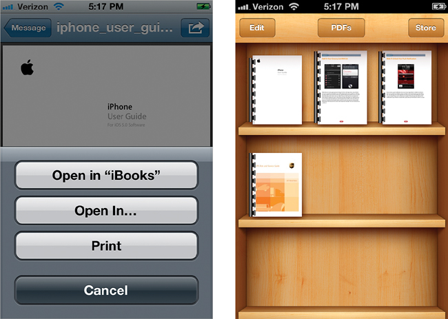 Reading ePubs and PDFs in the iBooks App - The iPhone Book: Covers