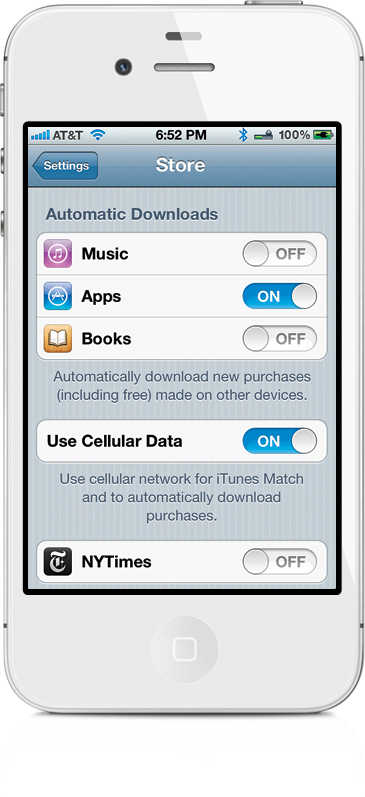 iTunes Store Settings - The iPhone Book: Covers iPhone 4S, iPhone 4