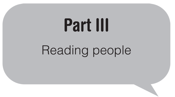 Part III: Reading people
