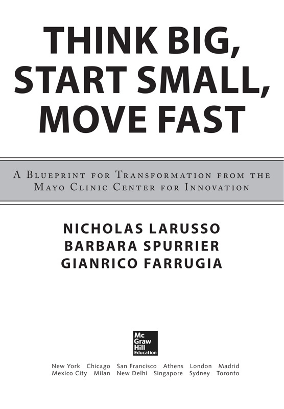 Title page think big start small move fast a blueprint for with safari you learn the way you learn best get unlimited access to videos live online training learning paths books interactive tutorials and more malvernweather Images