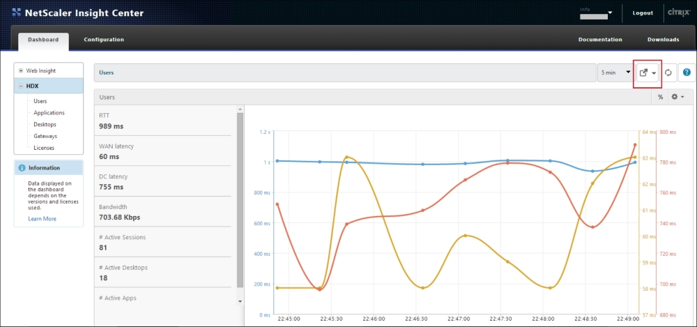 NetScaler Insight Center™ for monitoring XenApp®