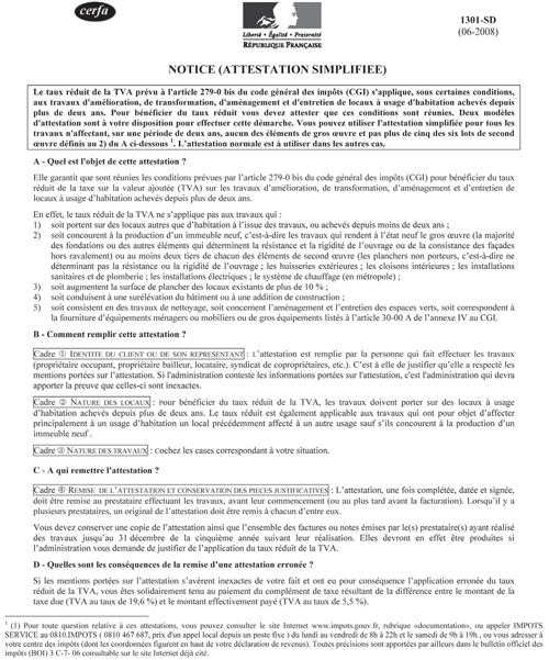 Modele attestation tva 10 simplifiee document online - Attestation tva 5 5 ...