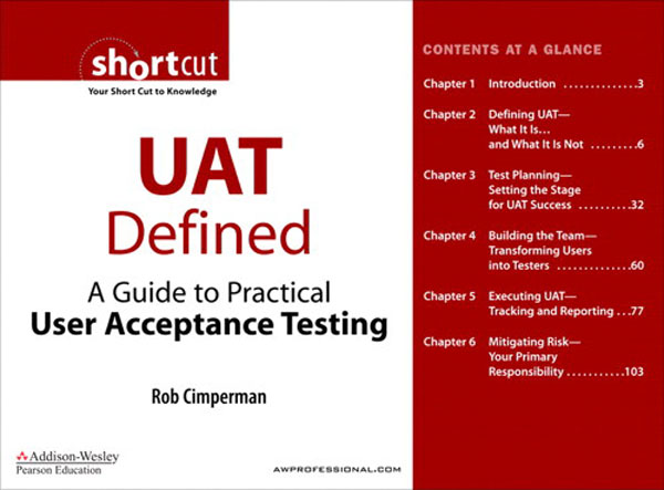 Cover page - UAT Defined: A Guide to Practical User ...