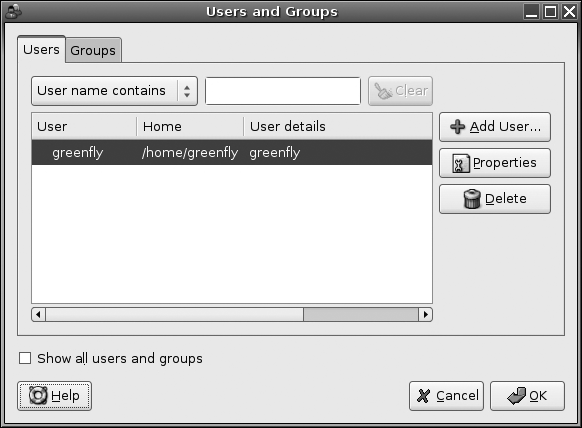 Ubuntu user administration tool