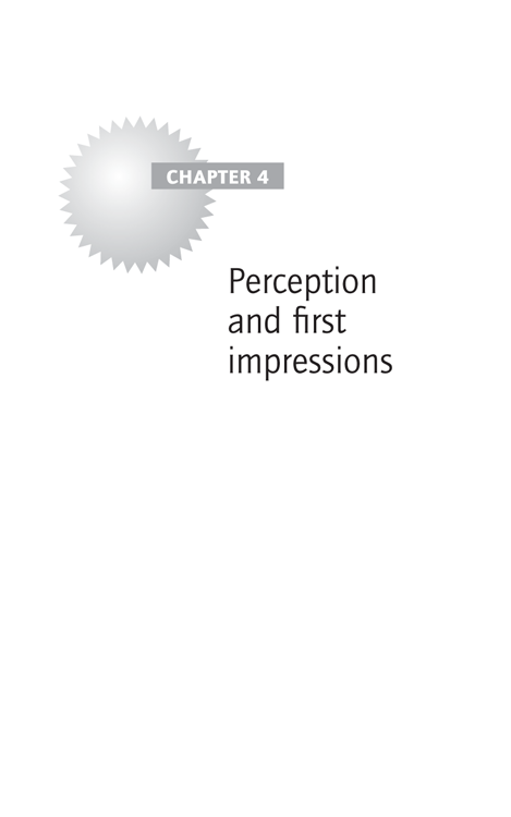Chapter 4: Perception and first impressions
