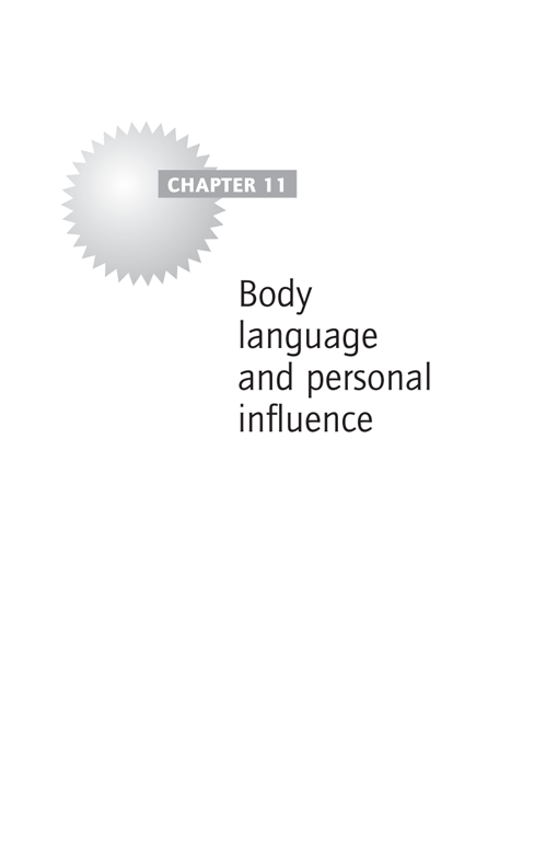 Chapter 11: Body language and personal influence