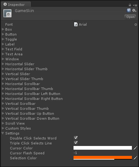 GUI Skins and GUI Styles