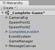 Basic game structure - Unity Artificial Intelligence