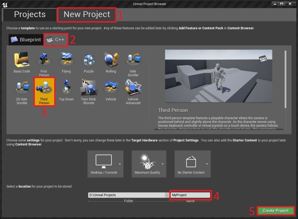 Creating a c project unreal engine 4 game development essentials with safari you learn the way you learn best get unlimited access to videos live online training learning paths books interactive tutorials and more malvernweather Choice Image