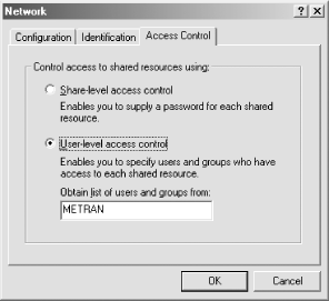 Setting user-level access control