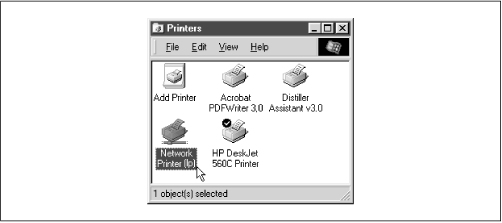 A network printer available on hydra (viewed from chimaera)