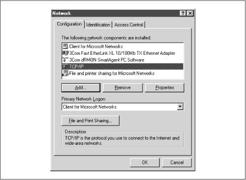 The Networking window