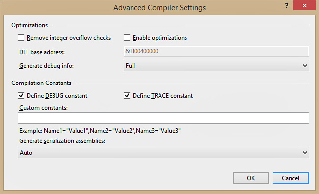 Advanced Compile Options - Visual Basic 2015 Unleashed [Book]