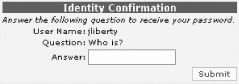 Confirming the user's identity