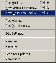 Creating a new resource pool