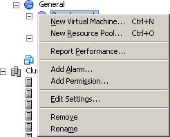 Editing a resource pool