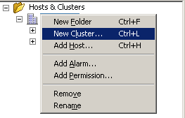 Adding a new cluster to a datacenter