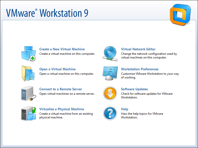 Starting VMware Workstation for the first time