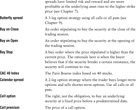 Appendix II. Glossary - Volatile Markets Made Easy