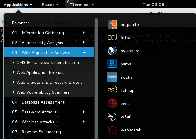 Important tools in Kali Linux - Web Penetration Testing ...