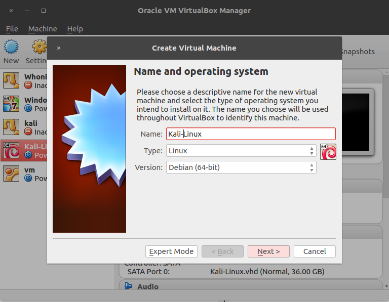Creating the virtual machine - Web Penetration Testing with