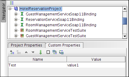 Adding properties to soapUI tests