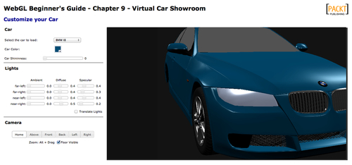 Virtual Car Showroom application